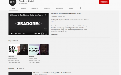 Ebadore Digital YouTube Channel Launch